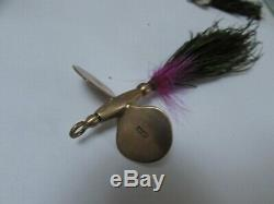 XX rare vintage hardy alnwick gold plated halcyon mahseer lure bait huge 6.5